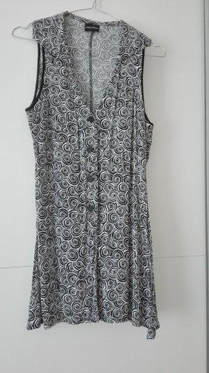 Nicowa Bluse mit geometrischem Schwarz/weiß Muster