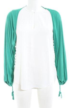 Nicowa Bolero weiß-grün Casual-Look