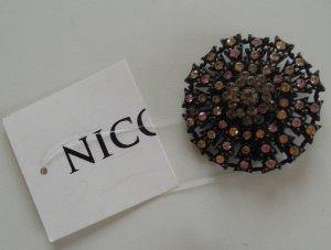 Nicowa Brosche Anstecker Strassbrosche Deko für Kleidung Blume