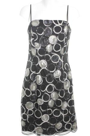 Nicowa Cocktailkleid schwarz Punktemuster Elegant