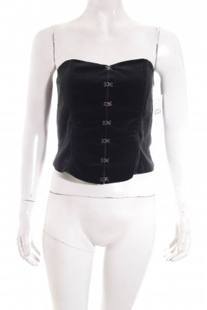 Nicowa Corsagen Top schwarz Street-Fashion-Look