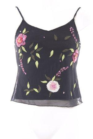 Nicowa Cropped Top florales Muster Casual-Look