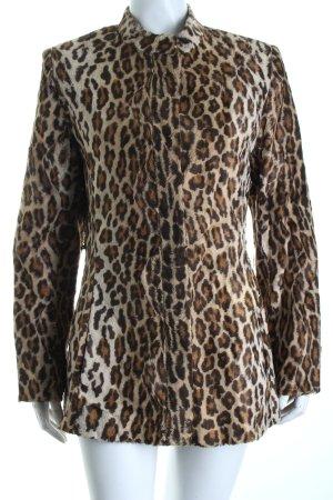 Nicowa Felljacke schwarz-beige Leomuster Street-Fashion-Look