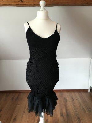 Nicowa Häkelkleid kleid schwarz meerjungfrauklein Spitze 38 40 M L