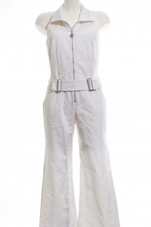 Nicowa Jumpsuit weiß schlichter Stil