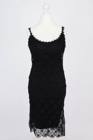 Nicowa Kleid mit Spitze und Perlen schwarz Größe 40
