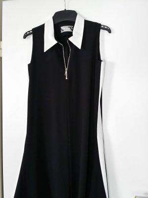 NICOWA Kleid schwarz mit weißem Kragen