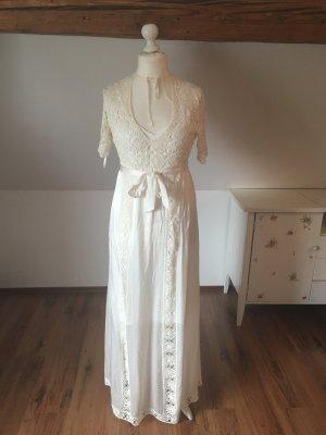 Nicowa Kleid Standesamt hochzeitskleid weiß 40 L Seide Häkelkleid ...
