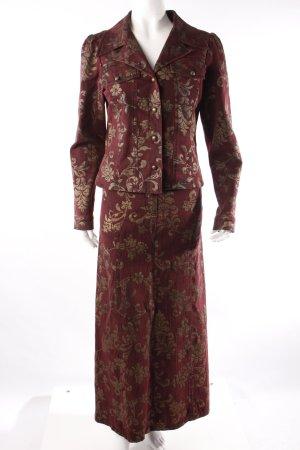 Nicowa Kostüm bordeauxrot gemustert