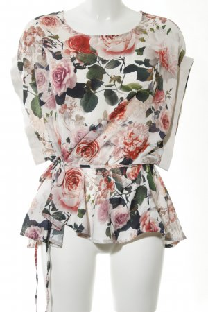 Nicowa Kurzarm-Bluse Blumenmuster Casual-Look