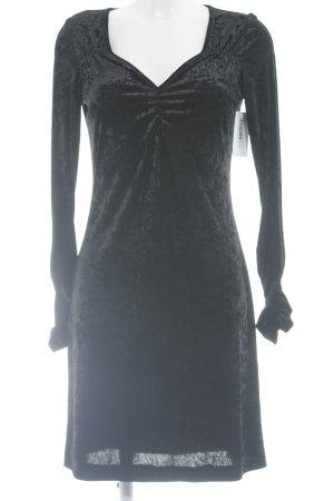 Nicowa Langarmkleid schwarz meliert Elegant