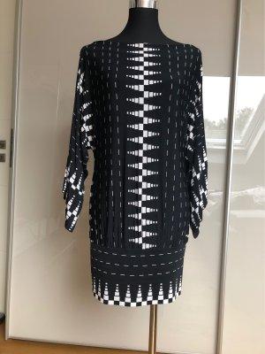 Nicowa Boothalsshirt wit-zwart Viscose
