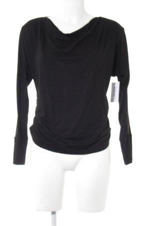 Nicowa Longsleeve schwarz schlichter Stil
