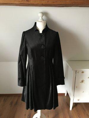 Nicowa Mantel schwarz Samt 40 L 42 Winter edel