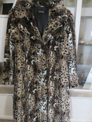 Nicowa Manteau en fausse fourrure multicolore tissu mixte
