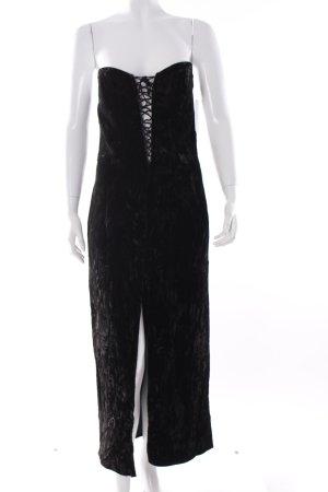 Nicowa Maxikleid schwarz schlichter Stil