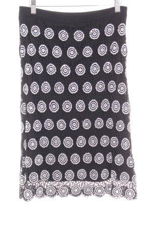 Nicowa Midirock schwarz-weiß Punktemuster extravaganter Stil