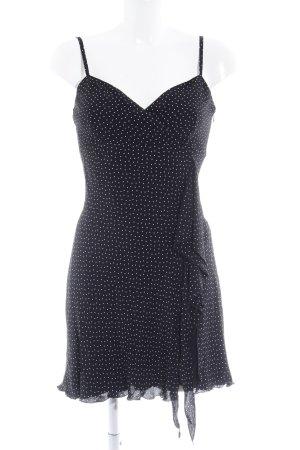 Nicowa Minikleid schwarz-weiß Punktemuster Elegant