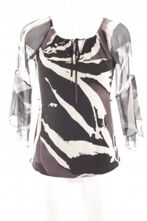 Nicowa Slip-over blouse abstract patroon casual uitstraling