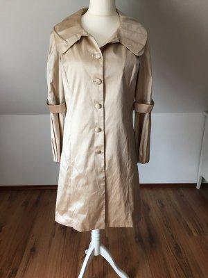 Nicowa Seidenmantel Seidenjacke Jacke Mantel Seide beige Nude 40 42 L
