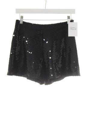 Nicowa Shorts schwarz Glitzer-Optik