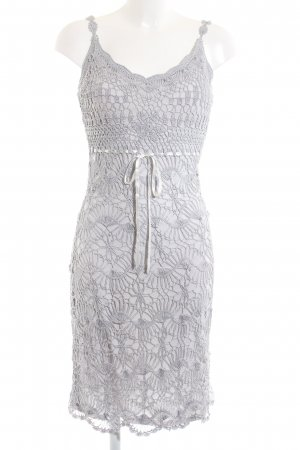 Nicowa Lace Dress light grey elegant