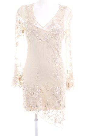 Nicowa Spitzenkleid creme Romantik-Look