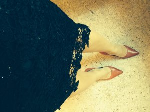 Nicowa Lace Skirt black viscose