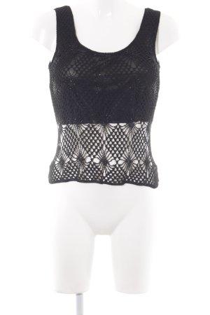 Nicowa Top de encaje negro elegante