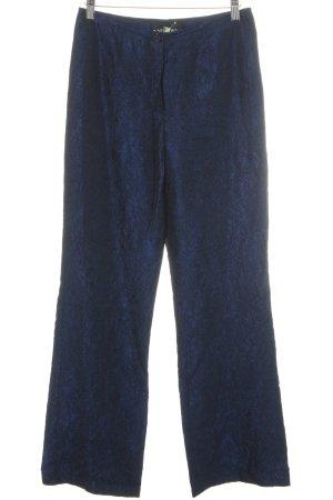 Nicowa Stoffhose schwarz-blau Elegant