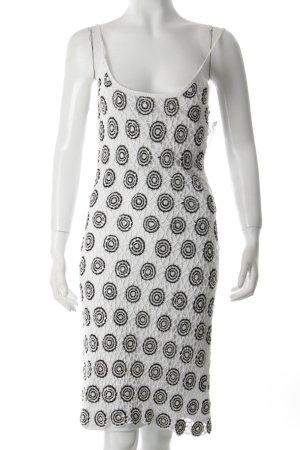 Nicowa Strickkleid weiß-schwarz Elegant