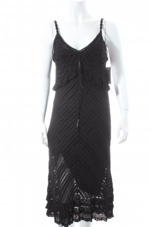 Nicowa Trägerkleid schwarz Bänderverzierung