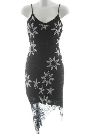 Nicowa Trägerkleid schwarz-weiß Blumenmuster Beach-Look