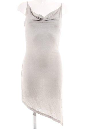 Nicowa Trägerkleid silberfarben-hellgrau Punktemuster Party-Look
