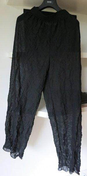 NicoWa Vintage tolle Chiffonhose schwarz Pluderhose Gr 38 S
