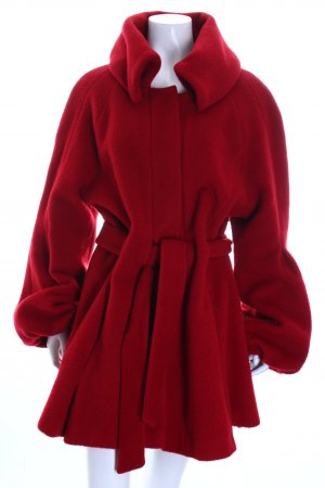 Nicowa Wollmantel rot Eleganz-Look