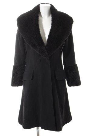 Nicowa Wollmantel schwarz klassischer Stil