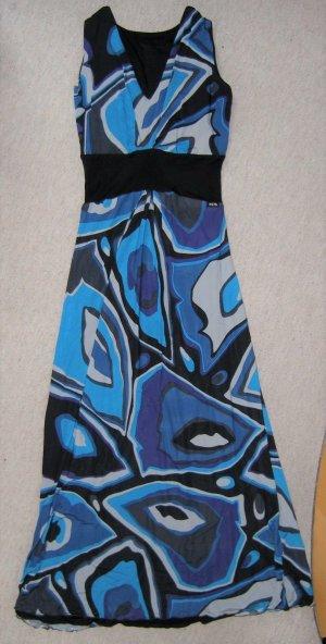 NICOWA wunderschönes langes Kleid Maxikleid Strandkleid Blautöne Aqua Gr 40/.42