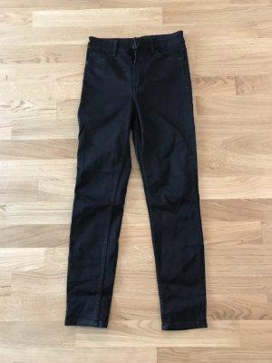 Nie getragen: MONKI Slim High Waist in schwarz, Größe 27