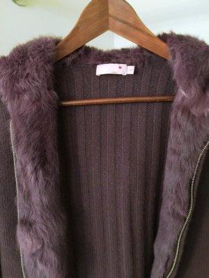 NIE GETRAGEN! ROSA Cashmere - Kuschelige Jacke, 100% Cashmere und Kaninchenfell
