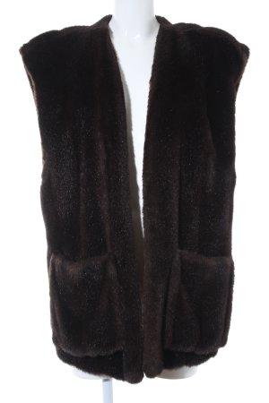 Niedieck Smanicato di pelliccia marrone scuro stile casual