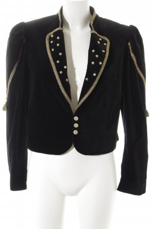 Niedieck Traditional Jacket black-gold-colored velvet appearance