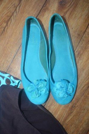 Spm Ballerine en pointe turquoise