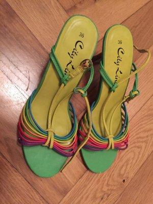 Niedliche Multicolor Riemchen-Sandalen in Größe 36
