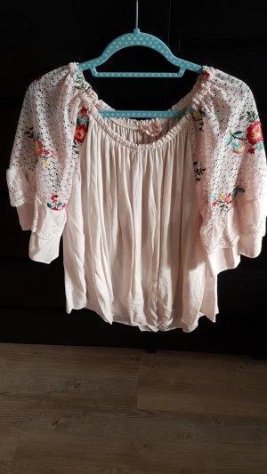 Tunique-blouse vieux rose-rosé