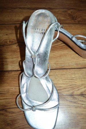 Stuart weitzman Strapped High-Heeled Sandals silver-colored