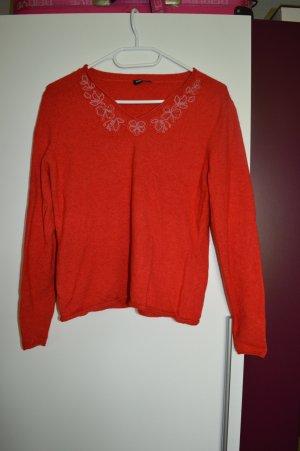 Niedlicher roter woll Pullover Gr. S/38 von Gerry Weber