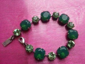 Bracelet vert forêt-vert prairie verre
