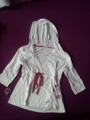 niedliches weißes Kapuzenshirt von Maui Wowie, Gr. 38