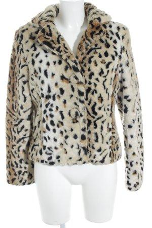 Nienhaus Giacca in eco pelliccia Stampa leopardata stile stravagante